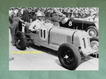 "ERA R1A (?) c.1938. Raymond Mays on the grid  at Brooklands  10x7"" photo"